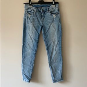 Cropped Blank NYC Light Wash Skinny Jeans